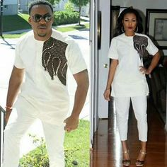 African Couples clothing, Dashiki for couples, African Wedding suit,African attire for couples. Traditional African Clothing, African Clothing For Men, African Shirts, African Dresses For Women, African Attire, African Wear, African Women, African Style, African Clothes