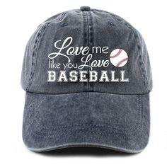 Katydid Love Me Like You Love Baseball Women's Baseball Hat
