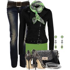"""""""Green and Animal Print Contest II"""" by brendariley-1 on Polyvore"""