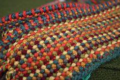 "pattern on Ravelry ""Scrappy Lengthwise Scarf"" using Knit Picks Swish Superwash Merino."