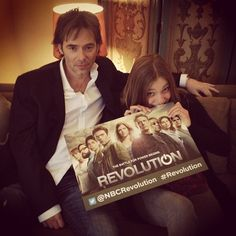 Billy Burke and Tracy Spiridakos want YOU to follow the #Revolution Twitter.