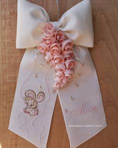 Baby Deco, Baby Boutique Clothing, Baby Mobile, Elephant Pattern, All You Need Is Love, Ribbon Bows, Felt Crafts, Flower Patterns, Hair Bows