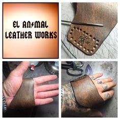 Elanimalleatherworks  leather callus gaurd/ knuckle guard
