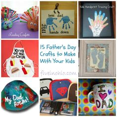 15 Father's Day Crafts to Make With Your Kids - Five in Ohio