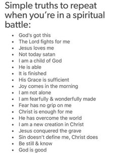 When you are in spiritual battle. List of thing know God do for me. should give me time to explore each bullet point and find supporting bible verses Prayer Scriptures, Bible Prayers, Faith Prayer, Prayer Quotes, Bible Verses Quotes, Spiritual Quotes, Faith Quotes, Spiritual Warfare Prayers, Spiritual Encouragement