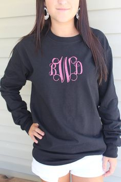 Monogrammed T shirt by BbsMonograms on Etsy, $15.00