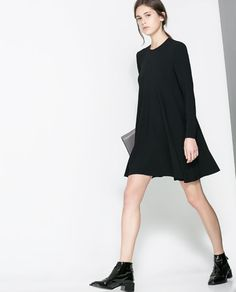 Image 2 of ROUND NECK DRESS WITH SEAMS from Zara