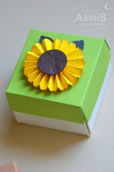 Handmade sunflower Box