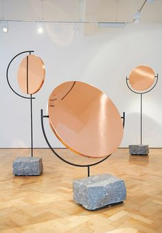 Sculptural mirrors by Hunting & Narud seen at London Design Festival 2013 #LDF13