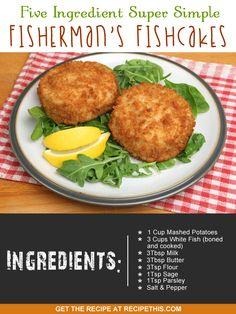 My five ingredient super simple fisherman's fishcakes