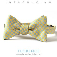http://www.bowtieclub.com/collections/new-bow-ties/products/florence-bow-tie #bowtie #bowties