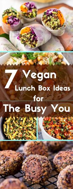 7 of my favorite, quick and easy gluten-free and vegan lunch box ideas. via /lightorangebean/