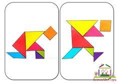 tangram - spiel, aufgaben und lösungen ausdrucken | tangram | spiele, legespiele und ausdrucken