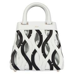 Unique designer bag by #Bally, great black & white patterns! #BlackAndWhite #Fashion #Trend