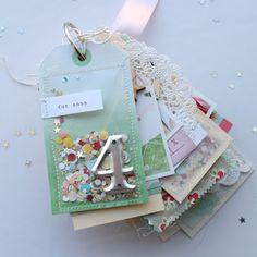 stephanie makes: for you, darling mini album Mini Albums Scrap, Mini Scrapbook Albums, Scrapbook Paper Crafts, Handmade Journals, Handmade Books, Palette Deco, Baby Mini Album, Memory Album, Memory Books