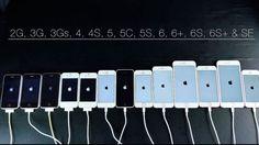 Prueba de velocidad de todos los iPhone version 2016