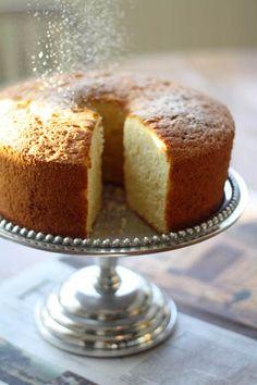 Olive Oil Chiffon Cake via Zoe Bakes #recipe