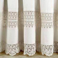 Glorious Make Rod Pocket Curtains Ideas. Enchanting Make Rod Pocket Curtains Ideas. No Sew Curtains, Crochet Curtains, Crochet Fabric, Cool Curtains, Rod Pocket Curtains, Crochet Home, Crochet Patterns, Crochet Vintage, Vintage Curtains