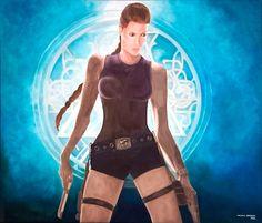 """""""Tomb Raider"""", óleo, 60 x 70, 2002. #arte #art #artesvisuales #pintura #oleo #tombraider #laracroft"""