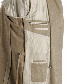 Corneliani tan convertible 'Identity' 3-button jacket | BLUEFLY up to 70% off designer brands