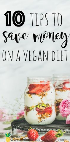 "bet you've heard that a vegan diet is expensive, well it doesn't have to be! In fact, most healthy vegan diets cost much less than their ""SAD"" counterparts. Here are 10 tips on how to save money on a vegan diet! Healthy Facts, Healthy Eating Recipes, Vegan Recipes Easy, Whole Food Recipes, Vegan Lifestyle, Plant Based Diet, Eating Plans, Going Vegan, Saving Money"