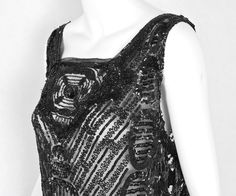 1920s Clothing at Vintage Textile: #2735 Beaded tabard dress