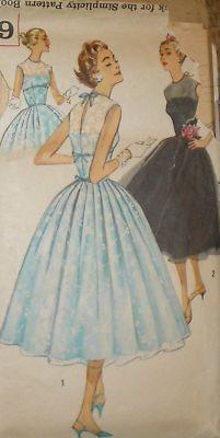 Vtg 50s S2029 Party Wasp Waist Dress Slip Pattern 32B | eBay