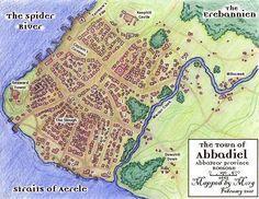 town fantasy map maps birthright campaign village aur rpg