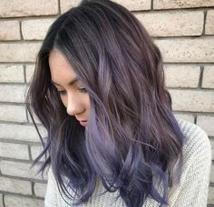 purple balayage