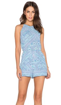 Eight Sixty Indian Henna Romper in Blue Multi | REVOLVE