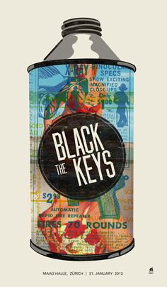 The Black Keys Zurich concert poster by Methane Studios