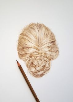 Drawing realistic hair with Faber Castell polychromos pencils - watch the… Realistic Rose, Realistic Drawings, Love Drawings, Pencil Drawings, Colored Pencil Tutorial, Colored Pencil Techniques, Colouring Techniques, Drawing Techniques, Colores Faber Castell
