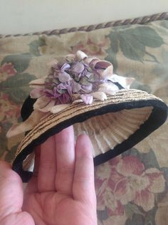 Beautiful Antique Victorian Straw Hat for Girl Doll Came from A Poured Wax | eBay