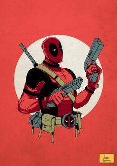 Deadpool by Vicente Valentine Marvel Comics, Marvel E Dc, Marvel Fan Art, Marvel Avengers, Deadpool Fan Art, Deadpool Funny, Deadpool Drawings, Deadpool Pics, Deadpool Stuff
