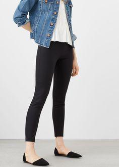 Essential cotton leggings -  Women | MANGO USA