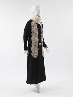 1919 - Poiret, coat - silk, wool, fur, leather
