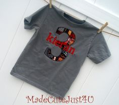 Cars Birthday TShirt Personalized by madecutejust4u on Etsy, $16.00- get for boys birthday in Red?
