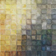 Yellow+Gray+Mosaics+II+at+FramedArt.com