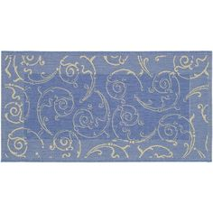 Safavieh Courtyard Swirl Indoor Outdoor Rug, Blue