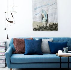 Sally @tiaborgsmidt   #danishdesign #furniture #scandinaviandesign #interiordesign #furnituredesign #nordicinspiration #retrostyle #blue #Sofa