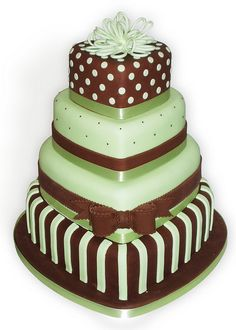 Mint Choc Polka Wedding Cake by Sucre Coeur - Eats & Ink, via Flickr
