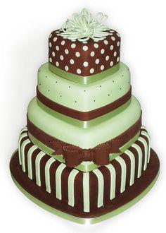 Mint Choc Polka Wedding Cake by Sucre Coeur - Eats & Ink, via Flickr
