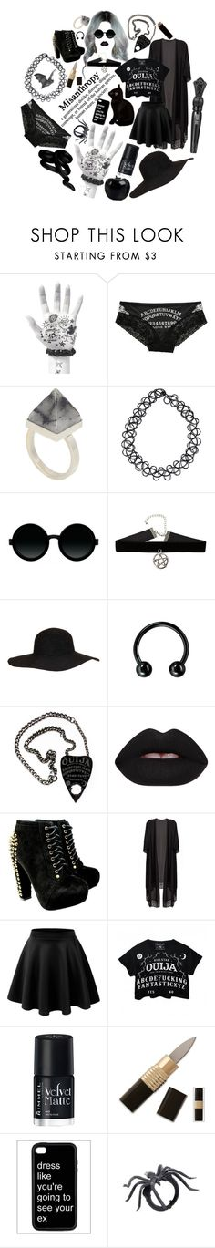 """""""coven aesthetic for my OC"""" by sw-13 ❤ liked on Polyvore featuring Hot Topic, Kelly Wearstler, JFR, Moscot, Topshop, Lime Crime, LE3NO, Anna Sui, Rimmel and Fashion Lab"""