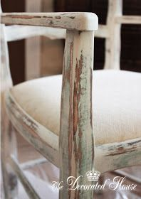 DIY: Chalk Painted & Distressed Finish - tutorial explains how the piece was painted 3 different colors, waxed, then distressed. Distressing after waxing gives you more control so you don't sand off too much paint.