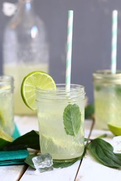 Refresh: Homemade ginger lemonade with lemon and lime. Keeps you hydrated during those hot summer days.
