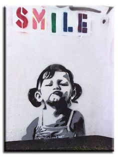 Banksy -  would be awesome in our kid's room