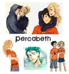 """""""Percabeth Percy Jackson"""" by katiecastillo on Polyvore featuring art"""