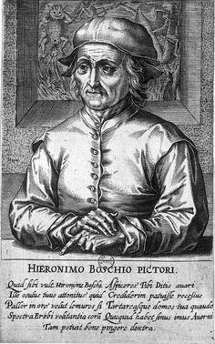 """Jheronimus Bosch, sa biographie comporte de nombreuses lacunes. On sait que sa famille, peut-être originaire d'Aix-la-Chapelle, est établie depuis au moins 2 générations à Bois-le-Duc, dans les Pays-Bas septentrionaux. Son grand-père, Jan Van Aken et son père, Anton Van Aken, y exercent déjà le métier de peintre. Pour se distinguer de ces derniers, Jheronimus aurait pris un nom inspiré de celui de sa ville natale (en flamand """"'s-Hertogenbosch"""", d'où en abrégé """"Den Bosch"""") Hieronymus Bosch, Heaven And Hell, Effigy, Macabre, Giclee Print, Weird, Illustration Art, Portrait, Dutch Painters"""