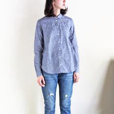 YMC - BRUSHED SHIRT (BRUSHED BLUE)