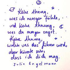 """Julia Engelmann on Instagram: """"Aus meinem neuen Buch und Hörbuch """"Keine Ahnung, ob das richtig ist""""💖 21.10., online und bei eurem Lieblingsbuchhändler um die Ecke🧡"""""""